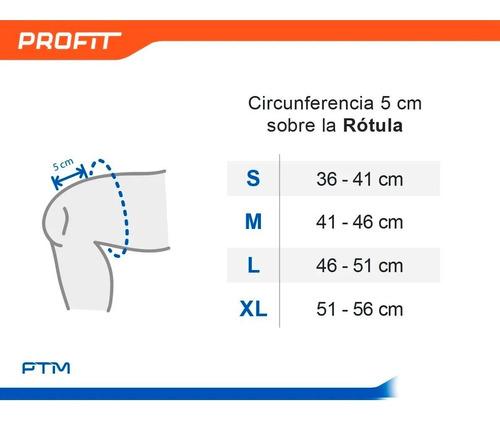 rodillera neoprene con refuerzo rotuliano circular ptm r2
