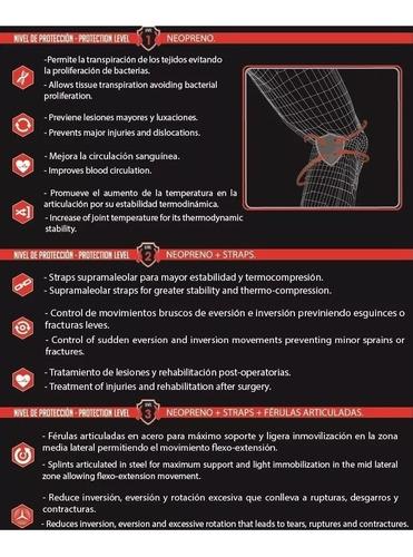 rodillera ortopédica con soporte rotula nivel 2 k6 fitness