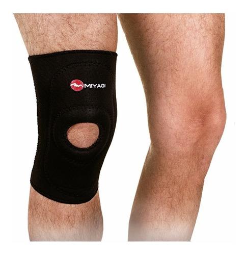 rodillera ortopédica miyagi en neopreno m6721 color negro