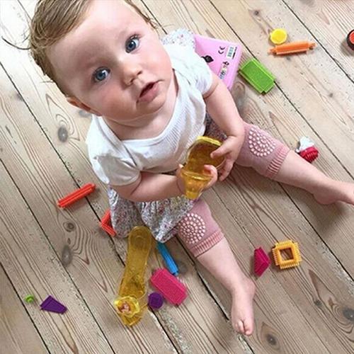 rodilleras de gateo para bebes con antideslizante x 3 pares
