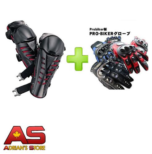 rodilleras moto  + guantes protección probiker gratis