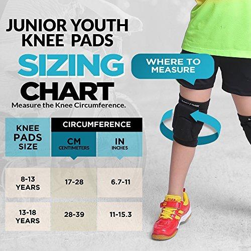 rodilleras para voleibol juvenil, 1 par unisex (8-13 años)