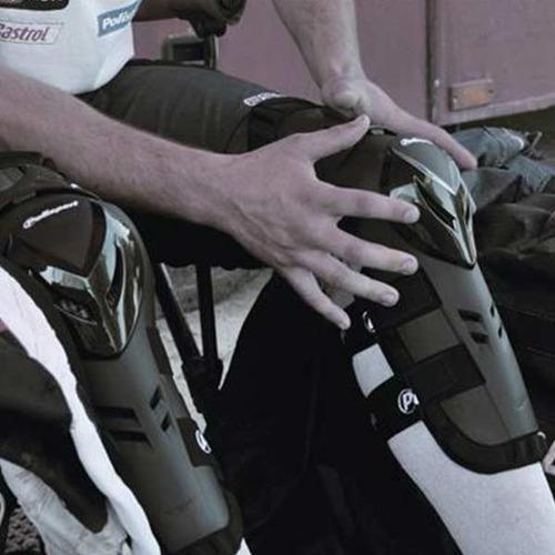 rodilleras polisport devil articuladas motocross enduro par