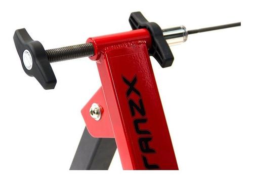 rodillo bicicleta piso estático entrenamiento tranzx rojo