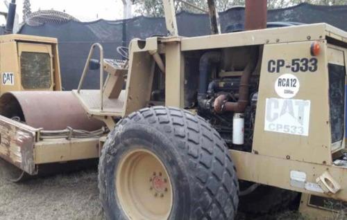 rodillo compactador autopropulsado pata de cabra cat cp533