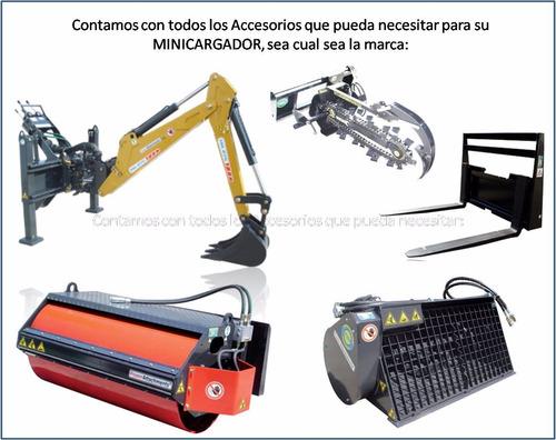 rodillo compactador vibrador liso, para minicargador