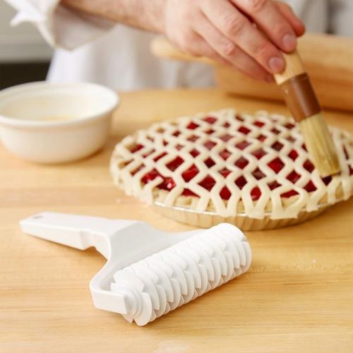 rodillo cortador enrejado masa pasta frola repostería