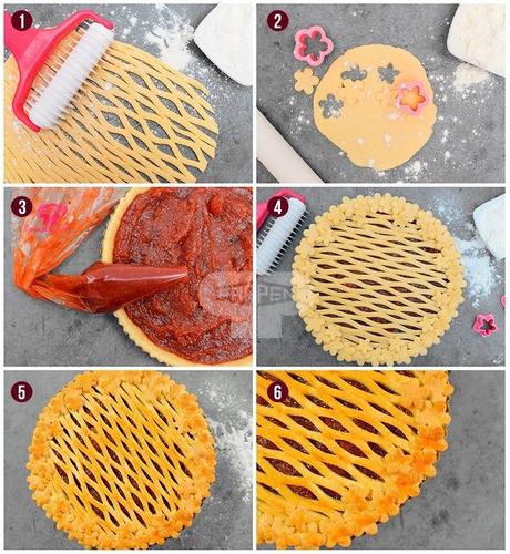 rodillo cortante rejilla para pasta frola parpen