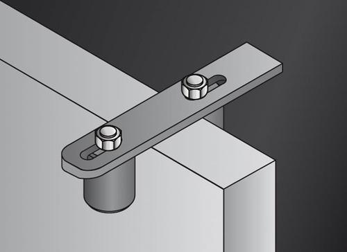 rodillo de nylon con estructura para portón corredizo guía!