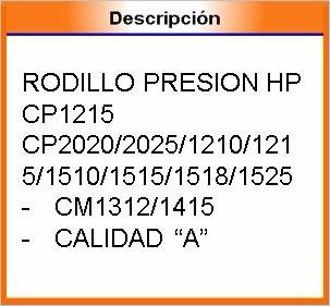 rodillo de presion  imp hp cp 1215 - cp2020/2025/1210/1215/1