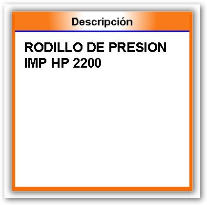 rodillo de presion impresora hp 2200
