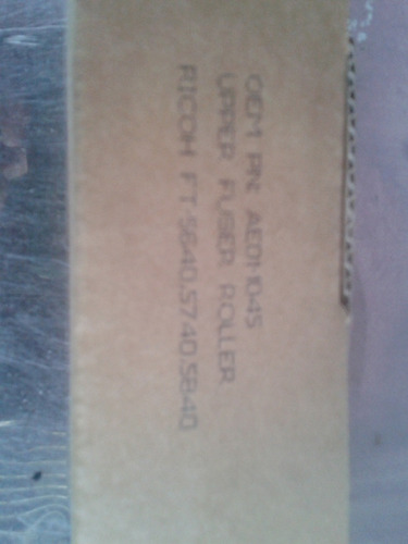 rodillo fusor copiadora ricoh ft 5540/4522/4535 serie finix