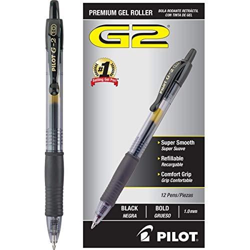 rodillo g2 premium gel ink roller retractil de punta negro