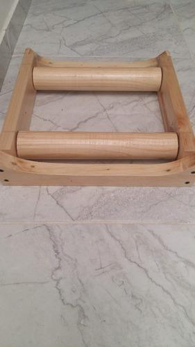 rodillo para bicicleta en madera estático