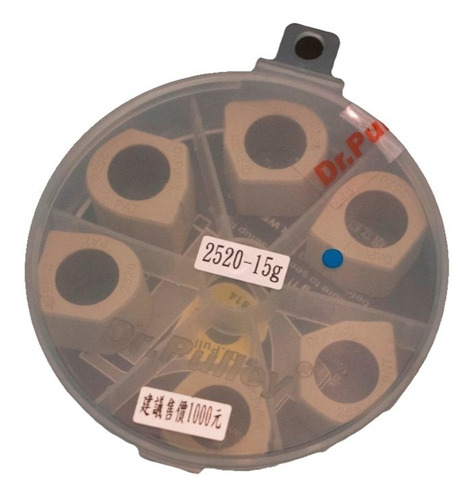 rodillos dr. pulley kymco xciting 400, 25mmx20mmx6