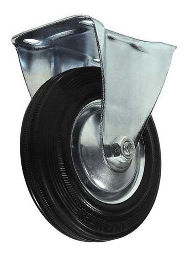 rodízio fixo de borracha 5 pol 125mm beltools