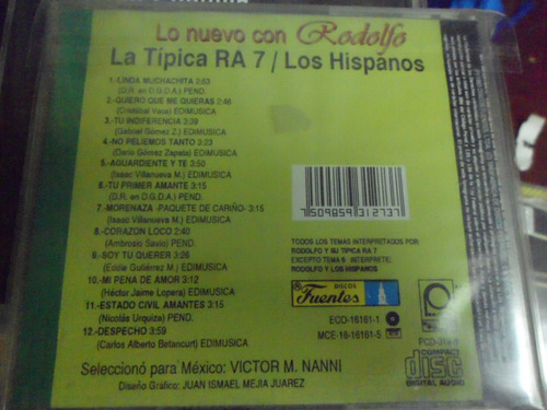 rodolfo la tipica ra 7  - cd album - los hispanos