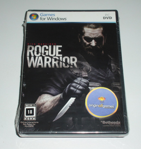 rogue warrior guerra ¦ jogo pc original lacrado ¦ mídia físi
