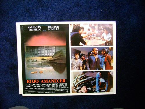 rojo amanecer hector bonilla cartel poster a  12.12.17