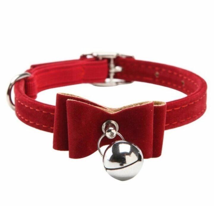 21f5f57d17f2 Rojo Collar Mascota Cascabel Perro Gato Conejito Uron Moño ...