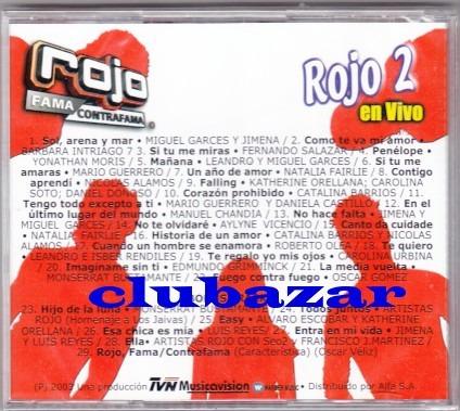 rojo fama contra fama cd rojo 2 en vivo nuevo 29 temas