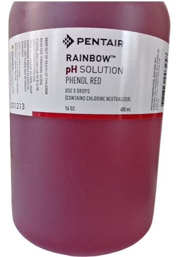 rojo fenol medir ph alberca reactivo 480 ml
