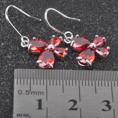 rojo granate topacio joyas para mujeres joyería de plata got