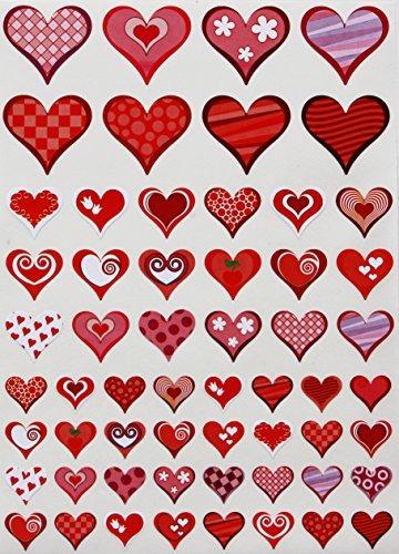 Rojo Y Corazones Color Rosa Pegatinas Decorativas Con Fo 87700