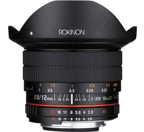 rokinon 12mm f2.8 ultra amplio fisheye lente para cámaras ré