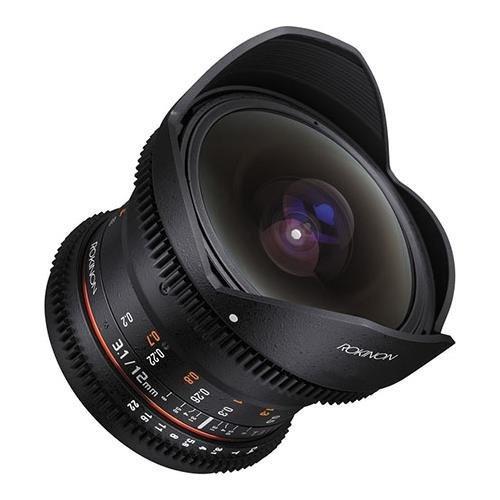 rokinon cine ds 12 mm t3.1 ultra wide cine ojo de pez lente