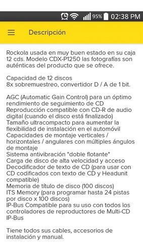 rokola pioneer 12 cd nueva