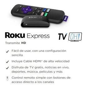 Roku Express + Cable Hdmi Alta Velocidad + Control Virtual