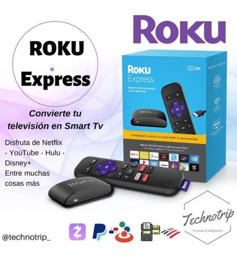 roku express. convierte tv en smart tv. somos tienda física