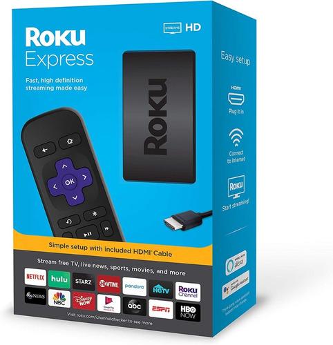 roku express hd, convertidor smart tv 100% nuevo