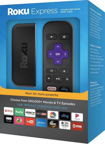 roku express hp streaming media player tv wifi lan