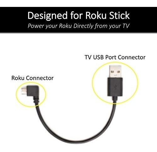 Wiring & Connecting TVPower Mini USB Cable for Powering Roku Streaming Stick Mission Cables . Wiring & Connecting