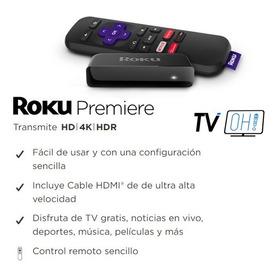 Roku Premier + Cable Hdmi Alta Velocidad + Control Virtual