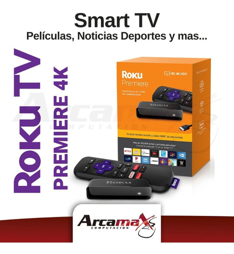 roku premier 4k - tv box smart tv - arcamax