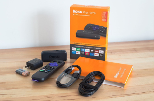 roku premiere 4k hdr streaming cable hdmi incluido
