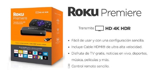 roku premiere 4k uhd streaming netflix youtube todo en tu tv