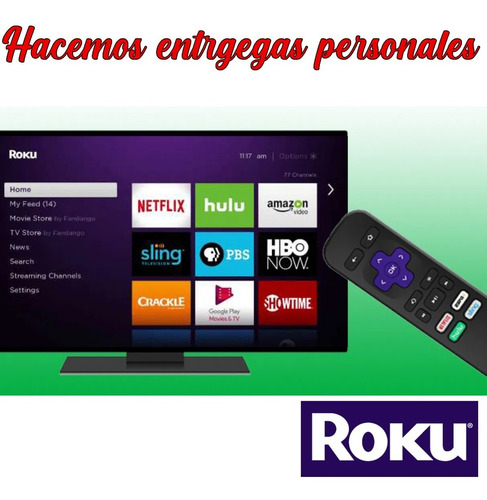 roku streaming hd hace tv smart  entregas personales