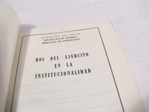 rol del ejercito en la institucionalidad