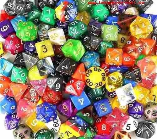 rol - dungeon and dragons - miniaturas - dados - set chessex