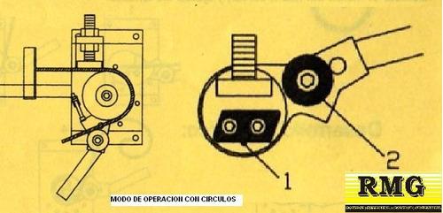 roladora dobladora manual rmg para herreria artesanal