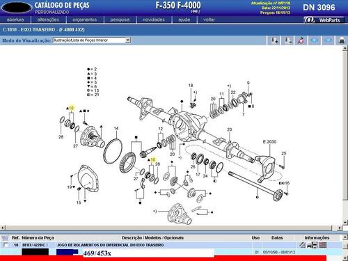 rolamento da caixa satélites bf8t4220c 469/453