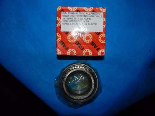 rolamento roda dianteira interno fag klm67048/lm67010