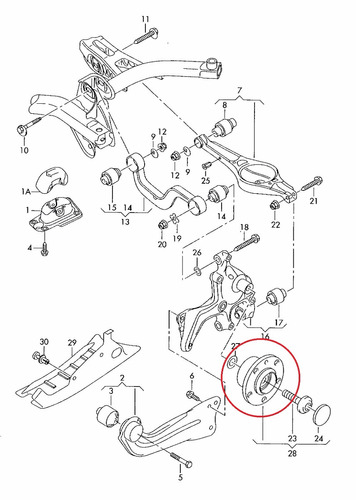 rolamento roda traseira golf 2.0 fsi gti  2007-2010 original