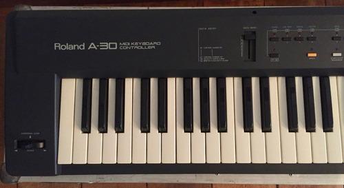 roland a-30 teclado controlador com hard-case e gig-bag