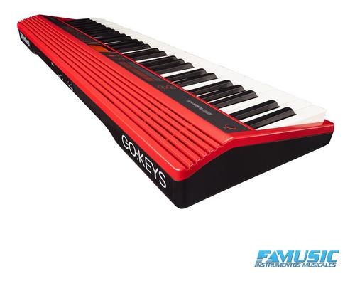 roland gokey 61 teclado + soporte + fuente de alimentacion