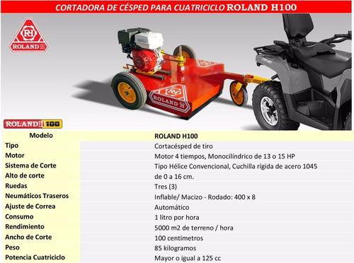 roland h100c c/ motor lüsqtoff 13 hp arranque manual